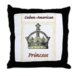 Cuban-American Princess Throw Pillow