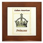 Cuban-American Princess Framed Tile