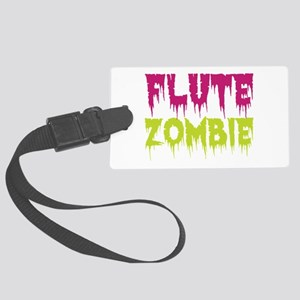 Flute Zombie Large Luggage Tag