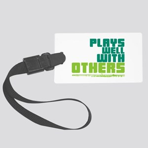 Flute Plays Well Large Luggage Tag