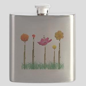 Flute Flowers Flask