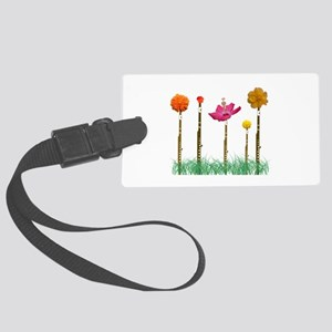 Flute Flowers Large Luggage Tag