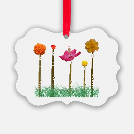Flute Flowers Ornament