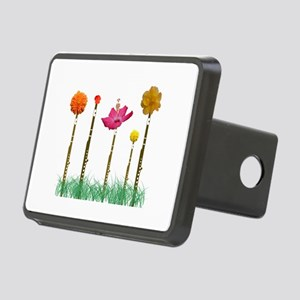 Flute Flowers Rectangular Hitch Cover