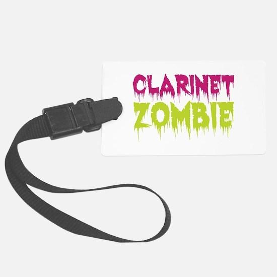 Clarinet Zombie Luggage Tag