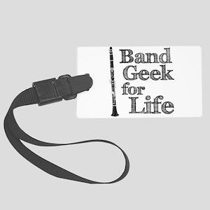 Clarinet Band Geek Large Luggage Tag