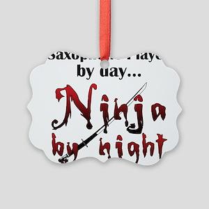 Saxophone Ninja Picture Ornament