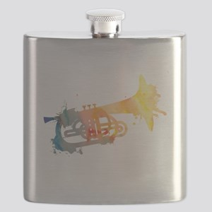 Paint Splat Mellophone Flask