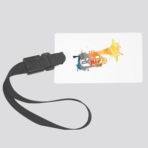 Paint Splat Mellophone Large Luggage Tag