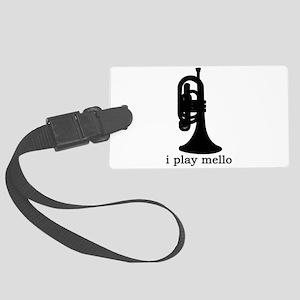 I Play Mello Large Luggage Tag