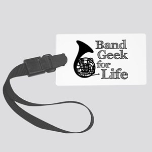 French Horn Band Geek Large Luggage Tag