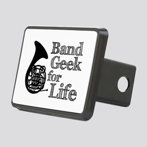 French Horn Band Geek Rectangular Hitch Cover