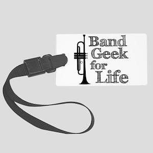 Trumpet Band Geek Large Luggage Tag