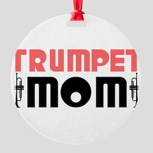 Trumpet Mom Round Ornament
