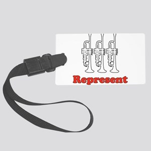 """Trumpet """"Represent"""" Large Luggage Tag"""