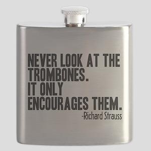 Trombone Quote Flask