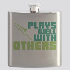Trombone Plays Well Flask