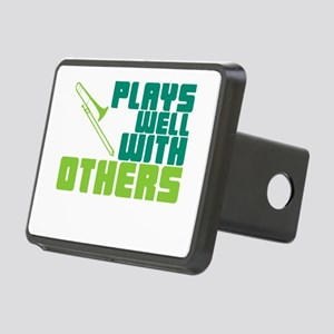Trombone Plays Well Rectangular Hitch Cover