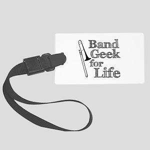 Trombone Band Geek Large Luggage Tag