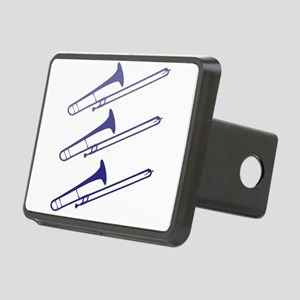 blue_trombones Rectangular Hitch Cover