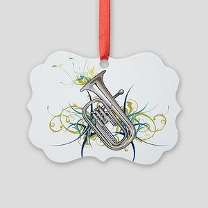 Confetti Baritone Picture Ornament