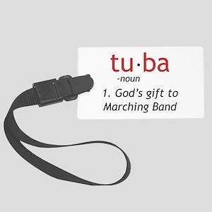 Tuba Definition Large Luggage Tag