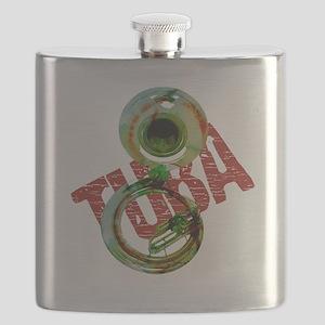 Grunge Sousaphone Flask