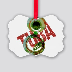 Grunge Sousaphone Picture Ornament