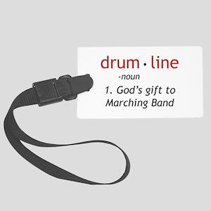 Definition of Drumline Large Luggage Tag