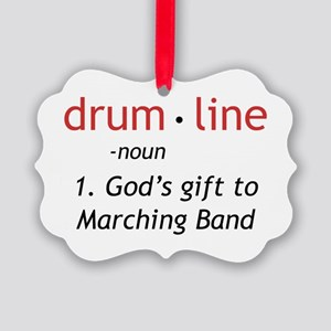 Definition of Drumline Picture Ornament