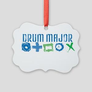 Grunge Drum Major Picture Ornament