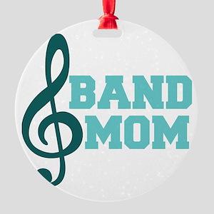 Treble Clef Band Mom Round Ornament