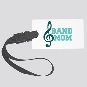Treble Clef Band Mom Large Luggage Tag
