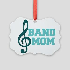 Treble Clef Band Mom Picture Ornament