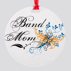 Band Mom Round Ornament