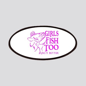 GIRLS FISH TOO WALLEYE Patches