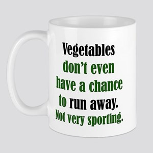 Veggies Run Away Mug