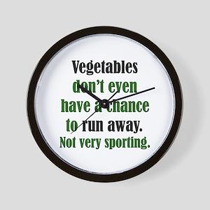 Veggies Run Away Wall Clock