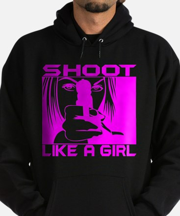SHOOT LIKE A GIRL Hoodie (dark)