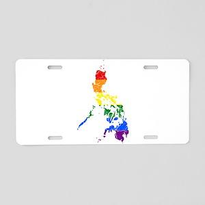 Philippines Rainbow Pride Flag And Map Aluminum Li