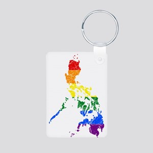 Philippines Rainbow Pride Flag And Map Aluminum Ph