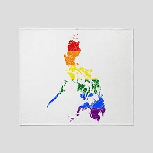 Philippines Rainbow Pride Flag And Map Stadium Bl