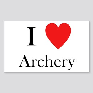 i love archery heart Sticker (Rectangle)