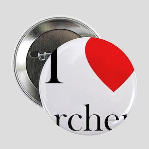 "i love archery heart 2.25"" Button"
