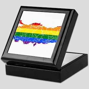 Turkey Rainbow Pride Flag And Map Keepsake Box