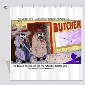 Al Capone The Cow Shower Curtain