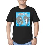 Shark Shopping Men's Fitted T-Shirt (dark)