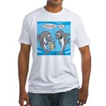 Shark Shopping Fitted T-Shirt