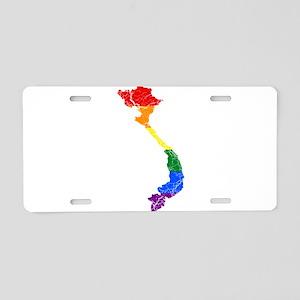Vietnam Rainbow Pride Flag And Map Aluminum Licens