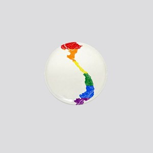 Vietnam Rainbow Pride Flag And Map Mini Button